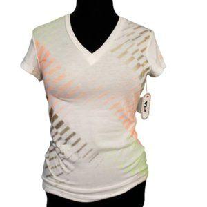 NWT Fila Sport V Neck Short Sleeve T Shirt Medium